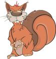 A squirrel cartoon vector image