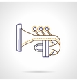 Abstract tuba flat line icon vector image
