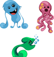 bright funny monsters for your design vector image