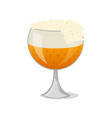 glass of beer isolated icon in cartoon style vector image