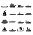 Sea transport icons set simple style vector image