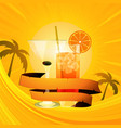 tropical summer background with cocktails and vector image vector image