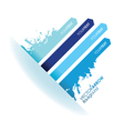 blue strip background vector image