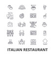 italian restaurant kitchen spaghetti sea food vector image