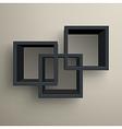 3d bookshelves vector image