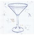 Cocktail Espresso Martini vector image