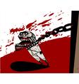 furious man vector image