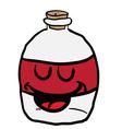 happy empty bottle vector image