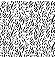 Black and white leaves seamless pattern vector image