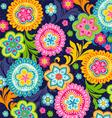 Ethnic flowers vector image