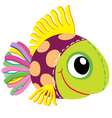 Fish soft toy vector image