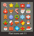 flat icon-set 11 vector image