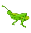 Grasshopper icon cartoon style vector image