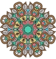 Mandala background henna natural colors vector image