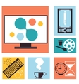 Set of colorful graphic web design icons vector image