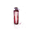 Watercolor Bordo Bottle vector image