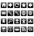 White web icons on black squares vector image vector image