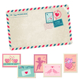Love Letter - Vintage Postcard vector image