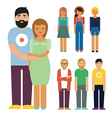 People characters set vector image