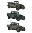 Vintage military cars vector image
