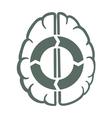 endless brain process vector image