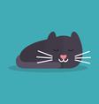 Cat is sleeping vector image vector image