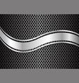 abstract silver curve gray circle mesh vector image