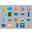 car service flat icons Vehicle maintenance and vector image