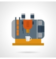 Coffee machine flat color icon vector image