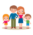 Family portrait of parents and their children vector image