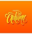 Happy Autumn calligraphy design Fall typographic vector image