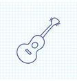 of trip symbol on guitar vector image