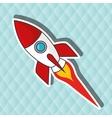 rocket cartoon design vector image