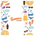 seamless borders summer vacation vector image