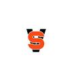 VS letter logo versus emblem V and S together vector image