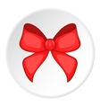 Red bow icon cartoon style vector image
