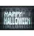 Happy Halloween message on an old tv screen vector image