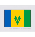 Flag of Saint Vincent and the Grenadines 2 to 3 vector image