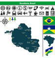 map of rondonia brazil vector image