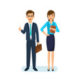 office employee with documents next to colleague vector image