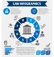 Law icons infographic vector image