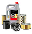 Engine Oil and Filters vector image
