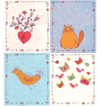 cards animals vector image