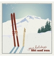 Ski equipment in the snow vector image vector image