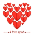 Greeting card with paper hearts Concept can be vector image