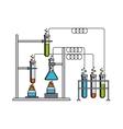 Science lab design vector image