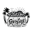 black surfing badge vector image vector image