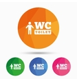 WC men toilet sign icon Restroom symbol vector image