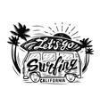 black surfing badge vector image