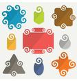 colorful retro spiral icons design elements set vector image